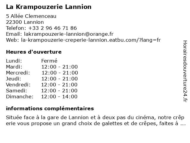 La Krampouzerie à Lannion: adresse et heures d'ouverture