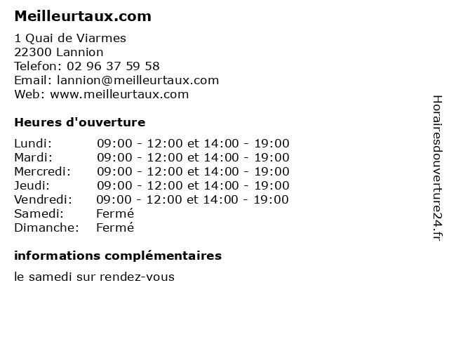 Meilleurtaux.com à Lannion: adresse et heures d'ouverture