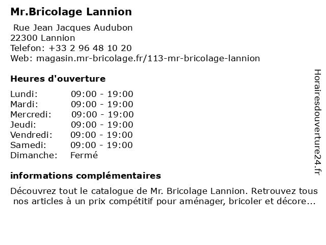 Mr.Bricolage Lannion à Lannion: adresse et heures d'ouverture