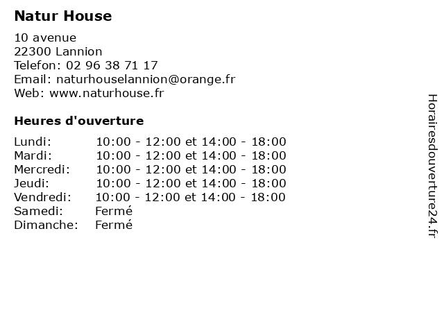 Natur House à Lannion: adresse et heures d'ouverture