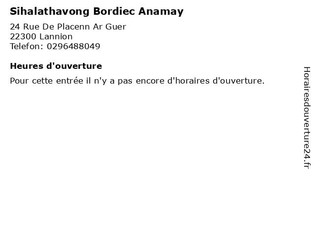 Sihalathavong Bordiec Anamay à Lannion: adresse et heures d'ouverture