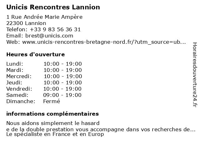 Unicis Rencontres Lannion à Lannion: adresse et heures d'ouverture