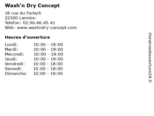 Wash'n Dry Concept à Lannion: adresse et heures d'ouverture