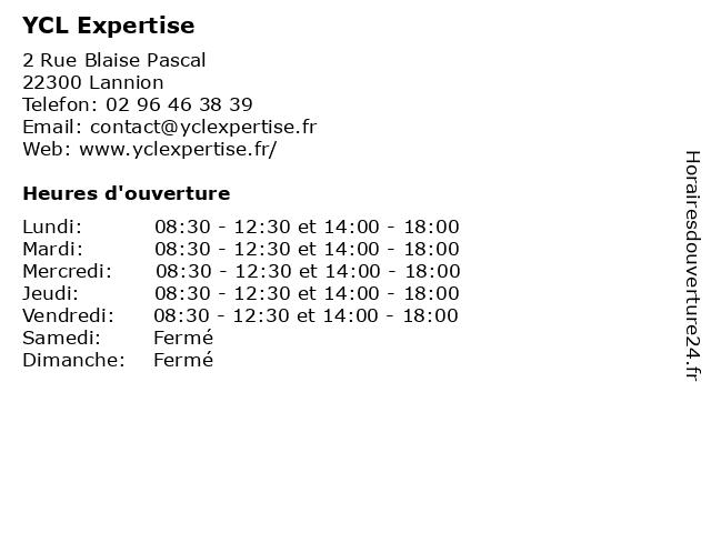 YCL Expertise à Lannion: adresse et heures d'ouverture