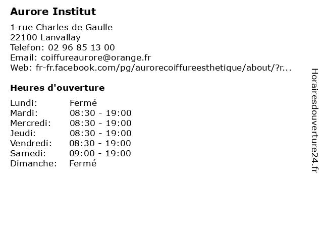 Aurore Institut à Lanvallay: adresse et heures d'ouverture