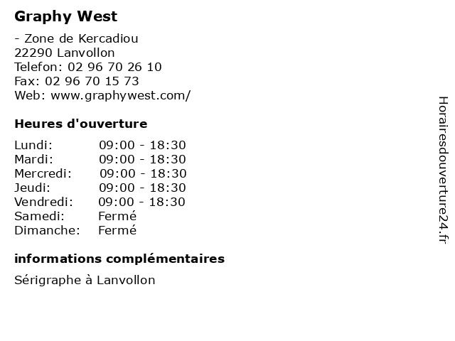 Graphy West à Lanvollon: adresse et heures d'ouverture