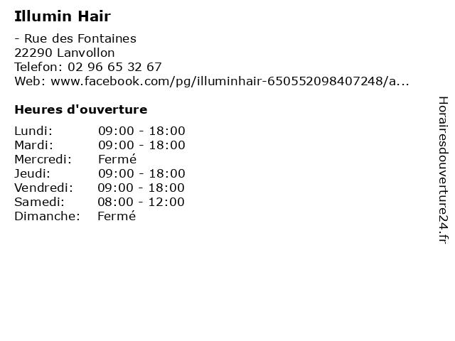 Illumin Hair à Lanvollon: adresse et heures d'ouverture
