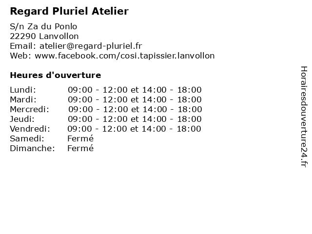 Regard Pluriel Atelier à Lanvollon: adresse et heures d'ouverture