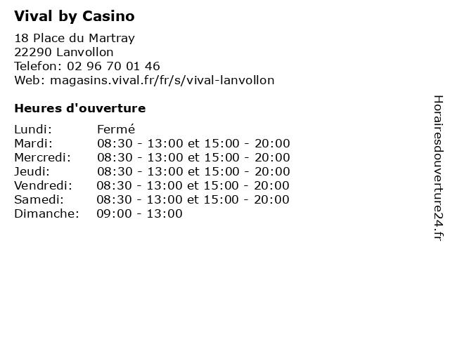 Vival by Casino à Lanvollon: adresse et heures d'ouverture
