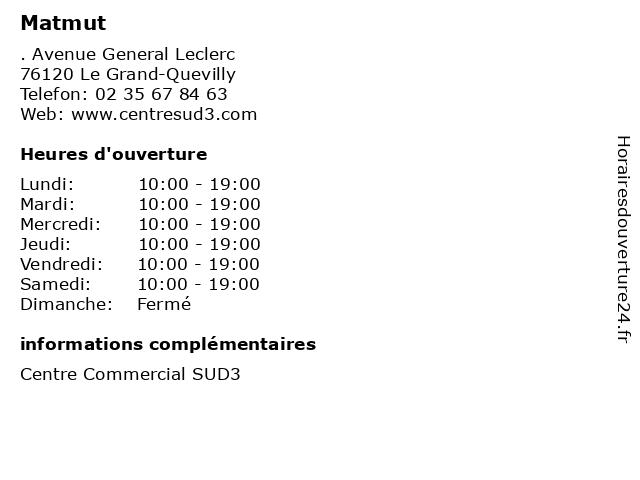 Matmut à Le Grand-Quevilly: adresse et heures d'ouverture