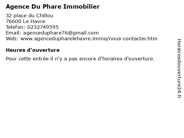 Agence Du Phare Immobilier à Le Havre: adresse et heures d'ouverture
