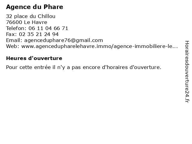 Agence du Phare à Le Havre: adresse et heures d'ouverture