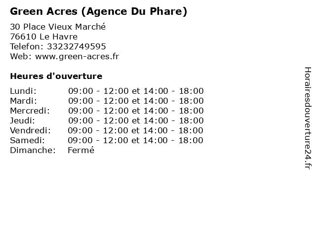 Green Acres (Agence Du Phare) à Le Havre: adresse et heures d'ouverture