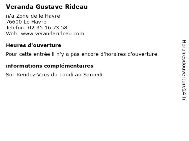 Veranda Gustave Rideau à Le Havre: adresse et heures d'ouverture