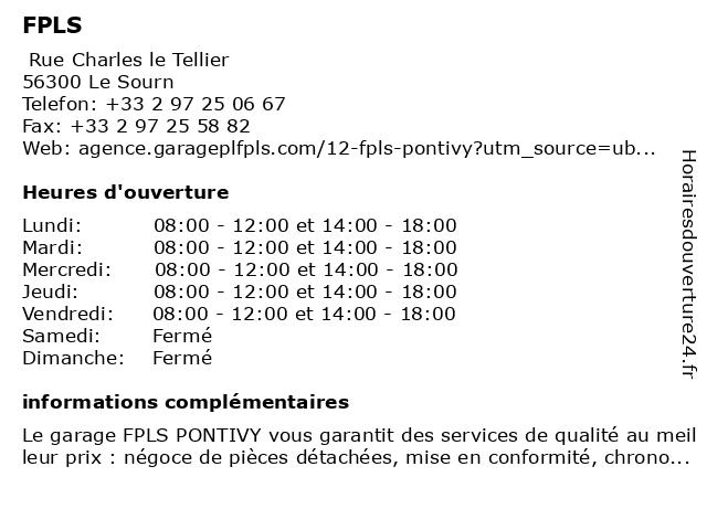 FPLS à Le Sourn: adresse et heures d'ouverture