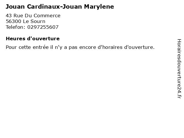 Jouan Cardinaux-Jouan Marylene à Le Sourn: adresse et heures d'ouverture