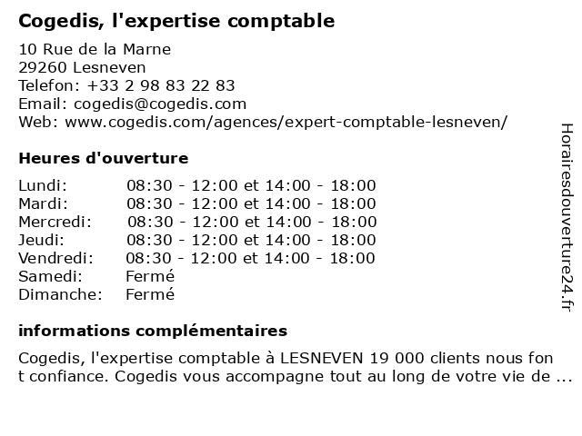 Cogedis à Lesneven: adresse et heures d'ouverture