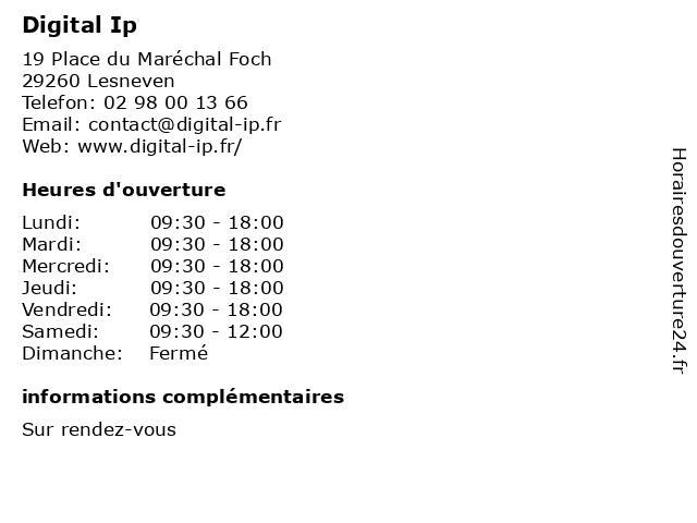 Digital Ip à Lesneven: adresse et heures d'ouverture
