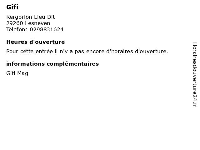 Gifi à Lesneven: adresse et heures d'ouverture