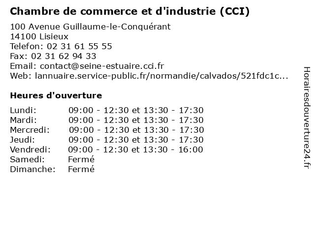 Chambre de commerce et d 39 industrie horaires d - Chambre de commerce pontoise ...