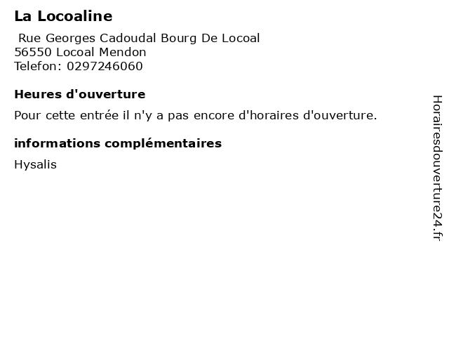 La Locoaline à Locoal Mendon: adresse et heures d'ouverture