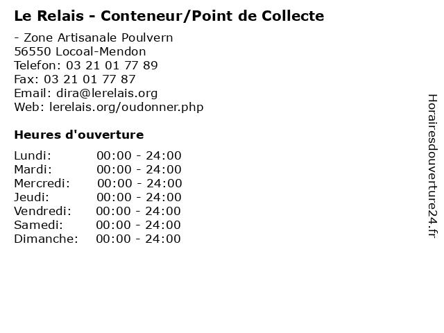 Le Relais - Conteneur/Point de Collecte à Locoal-Mendon: adresse et heures d'ouverture