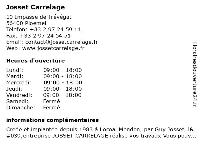 Sarl Colegrave à Locoal-Mendon: adresse et heures d'ouverture
