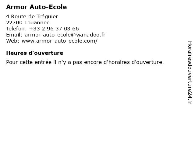 Armor Auto-Ecole à Louannec: adresse et heures d'ouverture