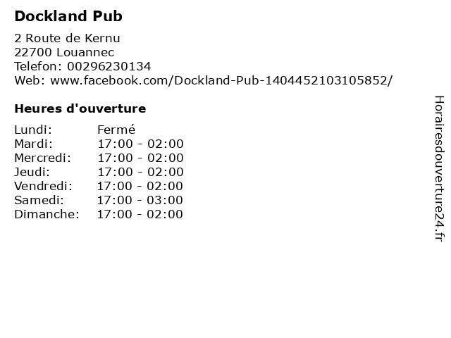 Dockland Pub à Louannec: adresse et heures d'ouverture