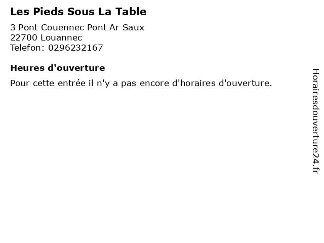 Les Pieds Sous La Table à Louannec: adresse et heures d'ouverture