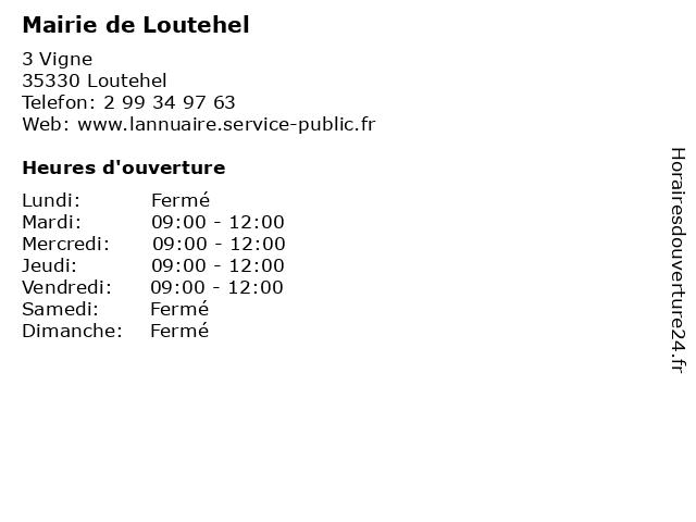 Mairie de Loutehel à Loutehel: adresse et heures d'ouverture