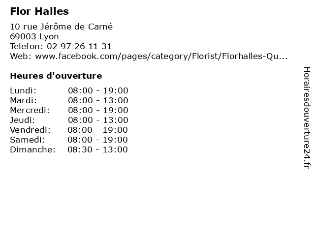 Flor Halles à Lyon: adresse et heures d'ouverture