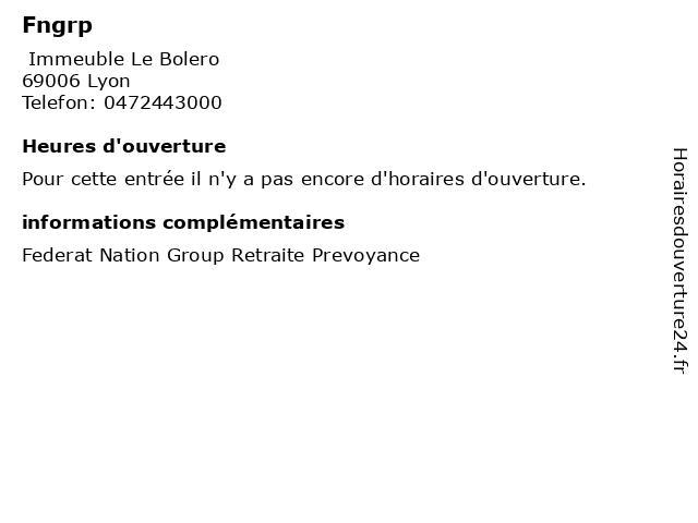 Fngrp à Lyon: adresse et heures d'ouverture