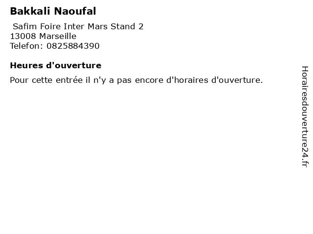 Bakkali Naoufal à Marseille: adresse et heures d'ouverture