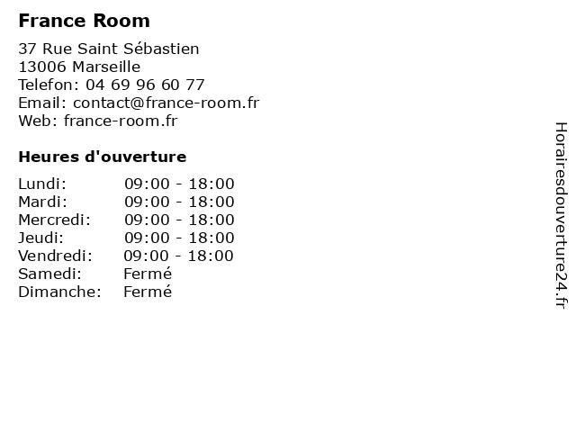France Room à Marseille: adresse et heures d'ouverture