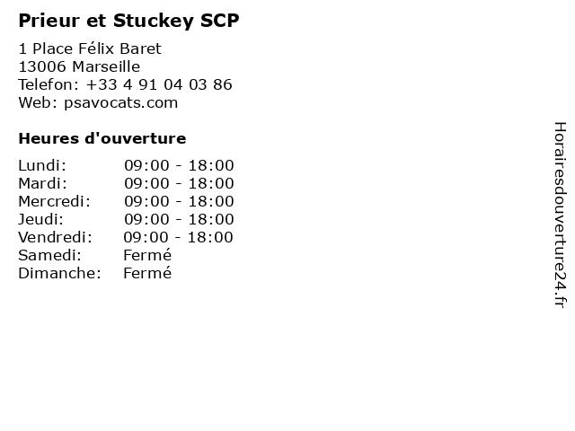 Prieur et Stuckey SCP à Marseille: adresse et heures d'ouverture