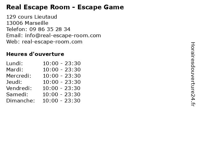 Real Escape Room - Escape Game à Marseille: adresse et heures d'ouverture