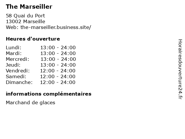 The Marseiller à Marseille: adresse et heures d'ouverture