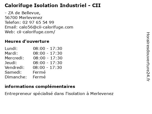 Calorifuge Isolation Industriel - CII à Merlevenez: adresse et heures d'ouverture