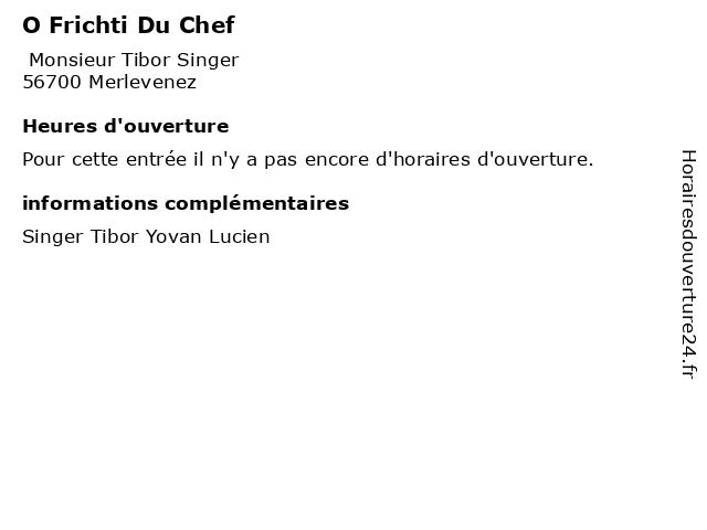 O Frichti Du Chef à Merlevenez: adresse et heures d'ouverture