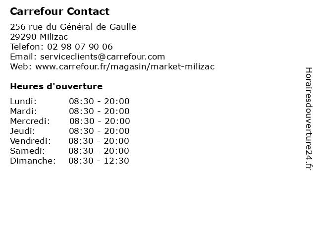 Carrefour Contact à Milizac: adresse et heures d'ouverture