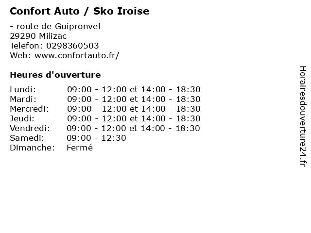 Confort Auto / Sko Iroise à Milizac: adresse et heures d'ouverture