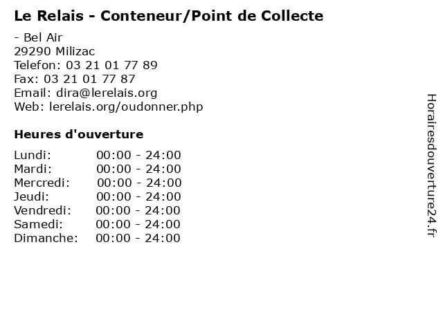 Le Relais - Conteneur/Point de Collecte à Milizac: adresse et heures d'ouverture