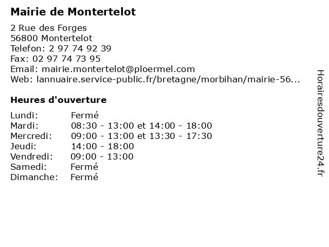 Mairie de Montertelot à Montertelot: adresse et heures d'ouverture