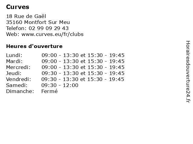 Curves à Montfort Sur Meu: adresse et heures d'ouverture