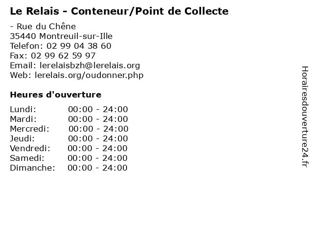Le Relais - Conteneur/Point de Collecte à Montreuil-sur-Ille: adresse et heures d'ouverture