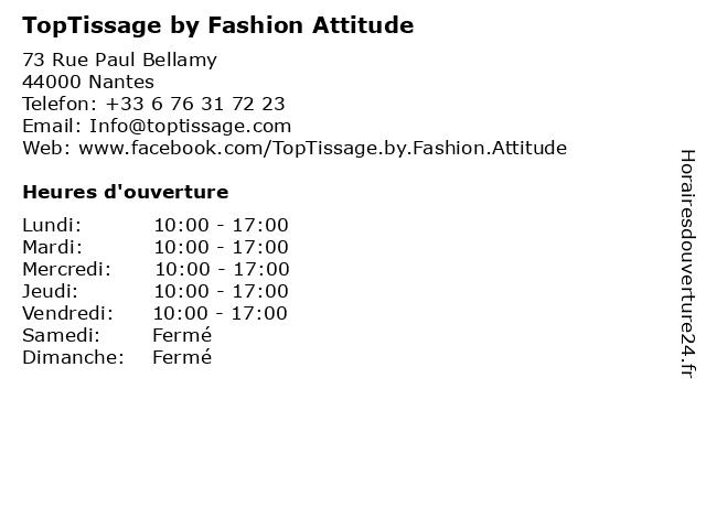 TopTissage by Fashion Attitude à Nantes: adresse et heures d'ouverture