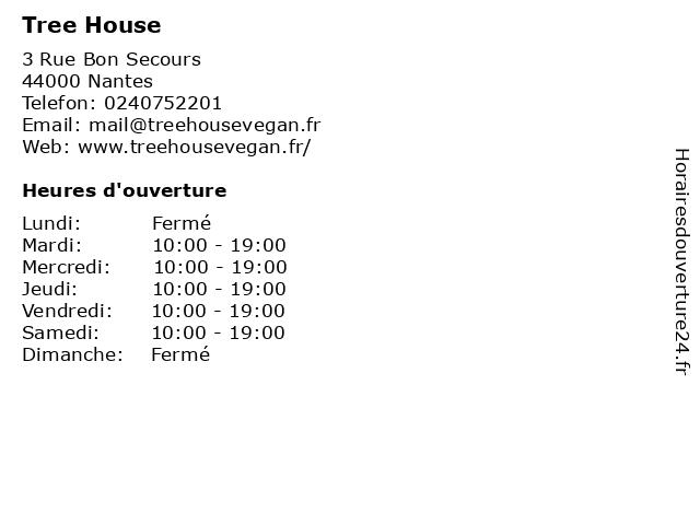 Tree House à Nantes: adresse et heures d'ouverture