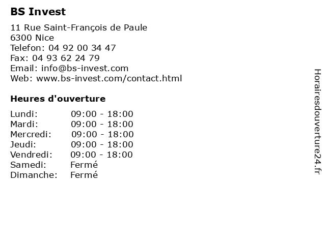Green Acres - Bs Invest à Nice: adresse et heures d'ouverture