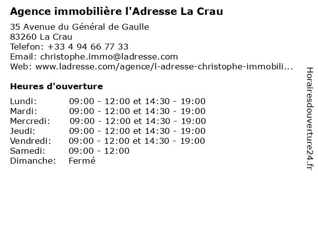 L'Adresse - Bel Air Immobilier à Nice: adresse et heures d'ouverture